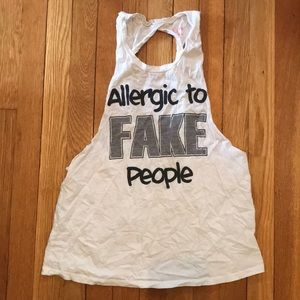 Tops - Allergic to Fake People Tank